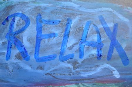 unwinding: relax word Stock Photo