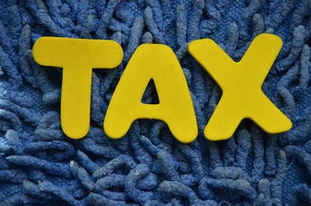 entities: TAX WORD Stock Photo