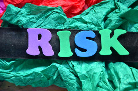 risiko: risk word Stock Photo