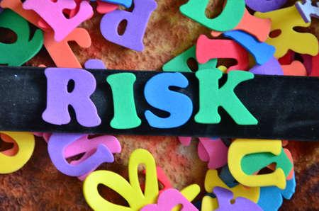 prioritization: risk word Stock Photo