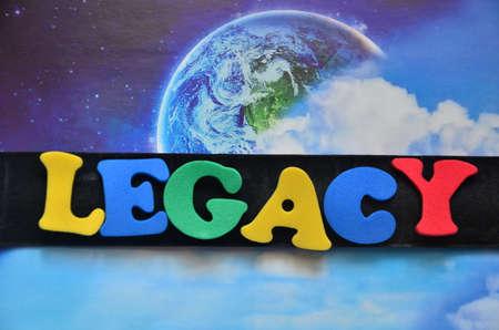 nalatenschap: LEGACY WOORD Stockfoto