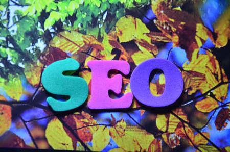 keywords link: SEO WORD Stock Photo