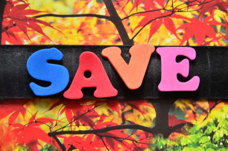 discounting: save word Stock Photo