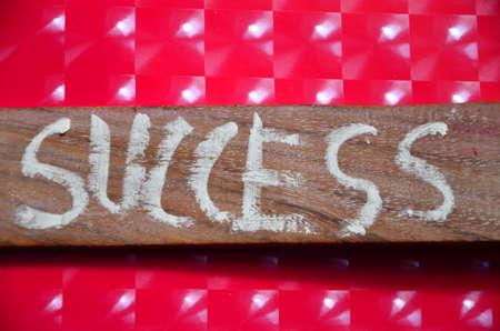surpassing: success word Stock Photo