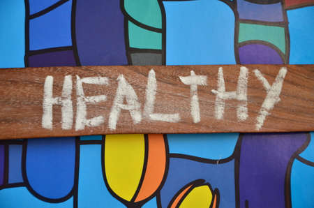get a workout: HEALTHY WORD Stock Photo