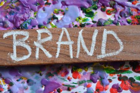 brand word Stock Photo