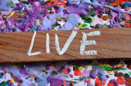 Live word Stock Photo
