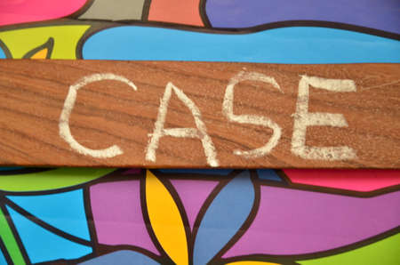 key words art: Word case Stock Photo