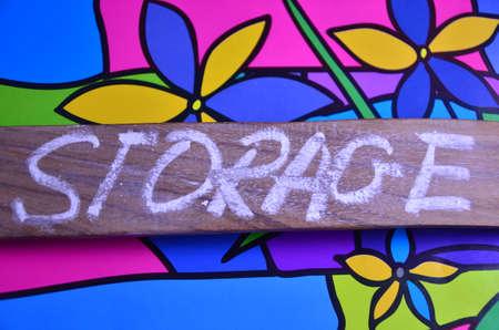storage: storage word Stock Photo
