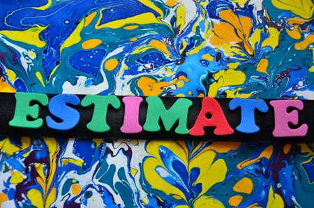 estimate: Word estimate