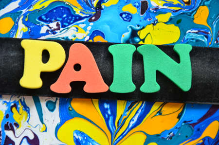 affliction: word pain Stock Photo