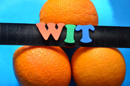 wit: Word wit Stock Photo