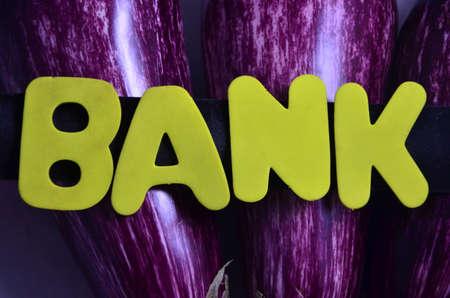 accounting logo: word bank Stock Photo