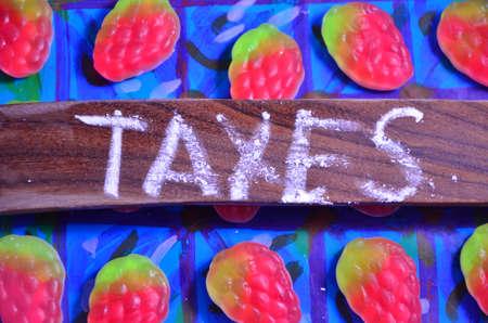 internal revenue service: taxes word