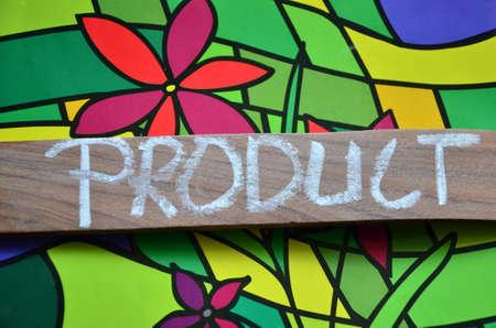 logo marketing: product word Stock Photo