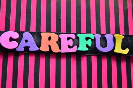 careful: word careful