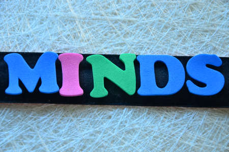 disposition: Word minds Stock Photo