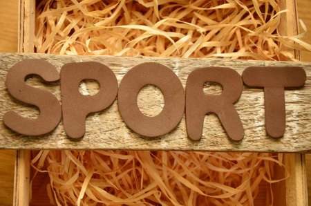word: word sport Stock Photo