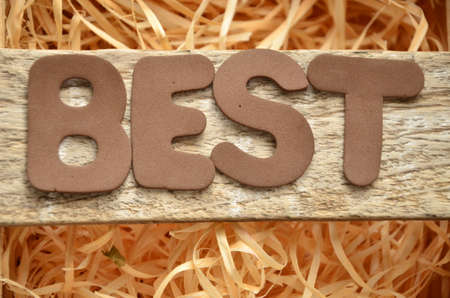 at best: BEST WORD Stock Photo