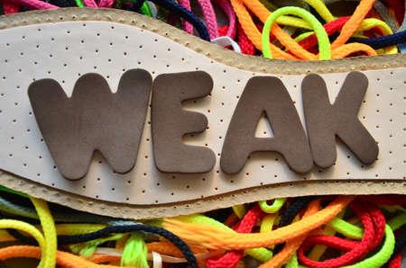 entrants: weak word Stock Photo