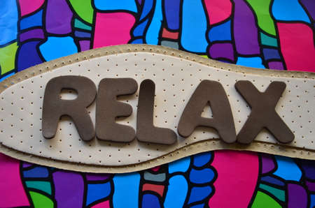 spiritual energy: WORD RELAX Stock Photo