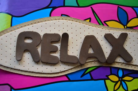 textual: WORD RELAX Stock Photo