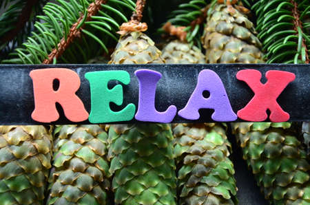 word: relax word Stock Photo
