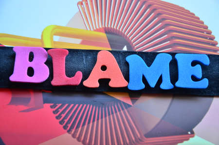 right vs wrong: WORD BLAME