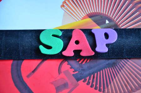 sap: SAP WORD Stock Photo