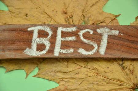 key words art: BEST WORD Stock Photo