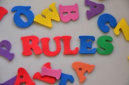 precedent: WORD RULES Stock Photo