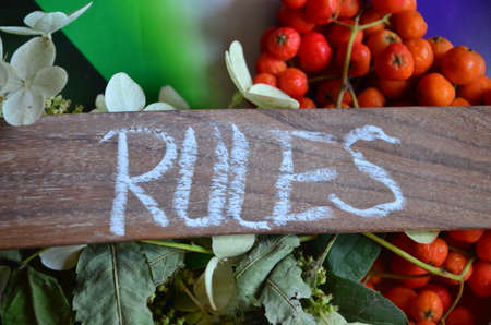 to word: WORD RULES Stock Photo