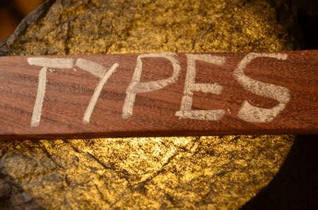 types: Types word