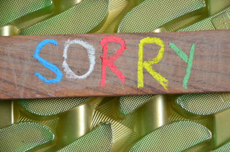 to word: sorry word
