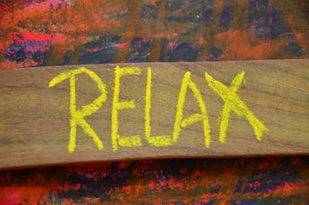 to word: relax word Stock Photo