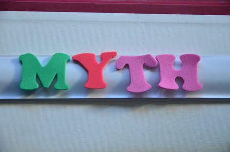 to word: word myth Stock Photo