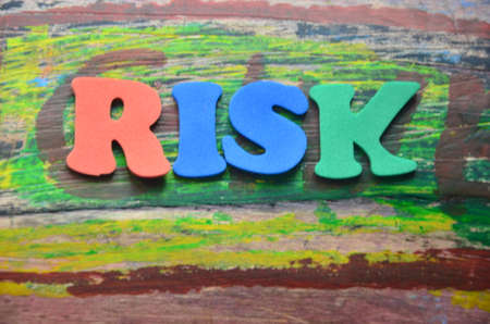 to word: word risk Stock Photo