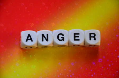 to word: ANGER WORD Stock Photo