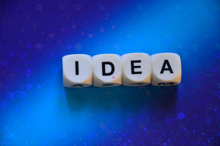 idea: Word idea Stock Photo