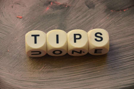 to word: WORD TIPS Stock Photo