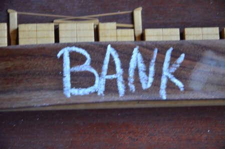 credit union: word bank Stock Photo