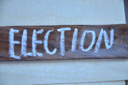 electorate: Word ellection Stock Photo