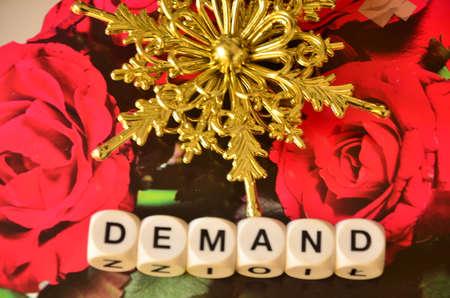 in demand: Word demand