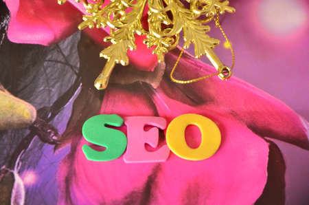 keywords link: word seo Stock Photo