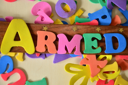 armed word Stock Photo