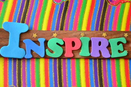 INSPIRE WORD Stock Photo