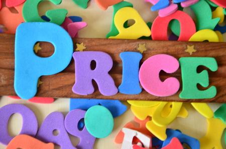 free education: Price word Stock Photo