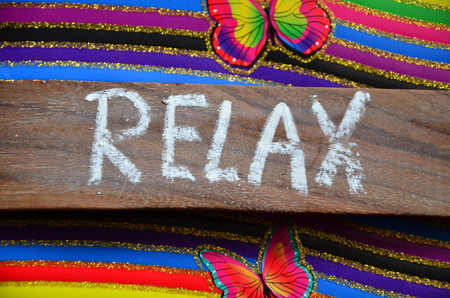 royalty free: relax word Stock Photo