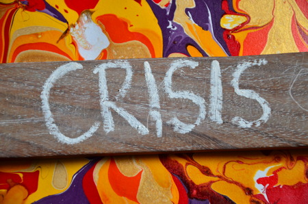 royalty free: Crisis word