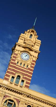 Melbourne's Flinders St Station Stock Photo - 1327704